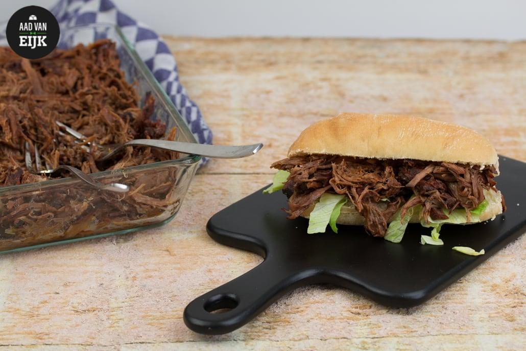 Broodje pulled beef recept